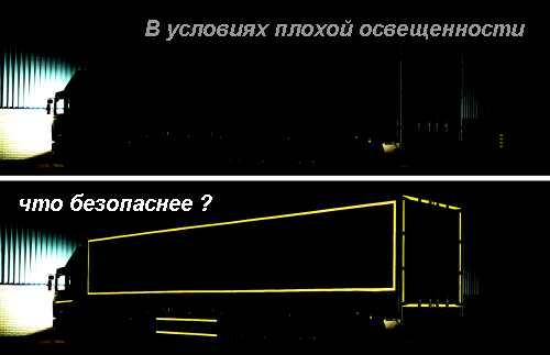 контурная маркировка светоотражающей пленкой